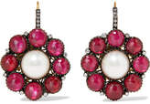 Amrapali 14-karat Gold And Sterling Silver Multi-stone Earrings - one size
