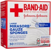 Bandaid First Aid Mirasorb 4X4 in Gauze 50 ct