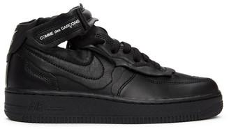 Comme des Garçons Homme Plus Black Nike Edition Air Force 1 Mid Sneakers