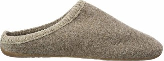 Haflinger Dakota Classic Unisex Adults Open Back Slippers Beige (Beige 46) 10 UK (44 EU)