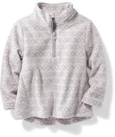 Old Navy Printed Micro-Performance Fleece Half-Zip Jacket for Toddler