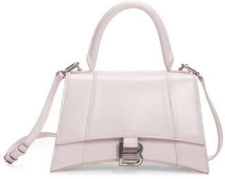 Balenciaga Extra-Small Hourglass Leather Top Handle Bag