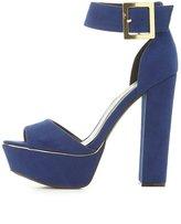 Charlotte Russe Qupid Two-Piece Platform Sandals