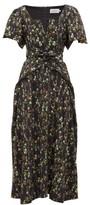 Preen by Thornton Bregazzi Katarina Waist-tie Floral-print Crepe Dress - Womens - Black Print