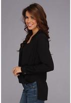 Vince Camuto L/S Wrap Front Shirt Tail Blouse