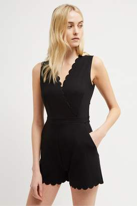French Connection Beau Scallop Playsuit