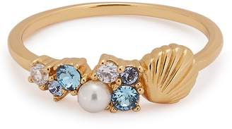 Olivia Burton Under The Sea Gold Plated Sterling Silver Ring