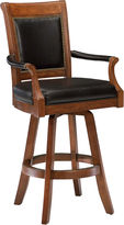 Hillsdale Kingston Upholstered Game Swivel Barstool with Back