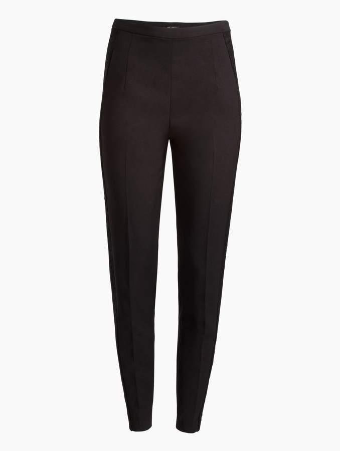 St. John Metallic Pinstripe Stretching Suiting Pant
