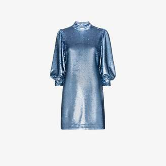 Ganni sequin-embellished mini dress