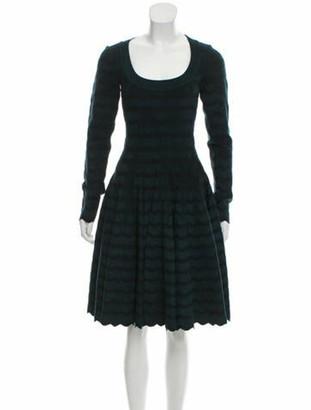 Alaia Long Sleeve Mini Dress green