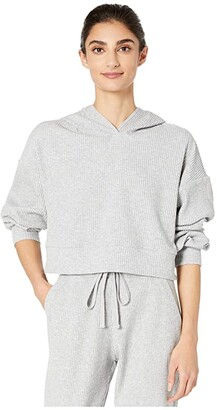 Alo Muse Hoodie (Athletic Heather Grey) Women's Clothing