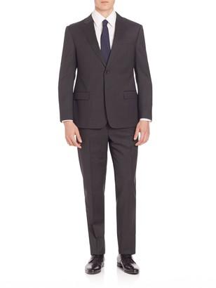 Armani Collezioni Classic-Fit Solid Wool Suit