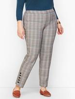 Talbots Plus Size Hampshire Button Hem Ankle Pants - MacIntosh Plaid