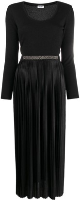 Liu Jo Long-Sleeved Pleated Dress