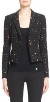 Versace Star Stud Stretch Cady Blazer