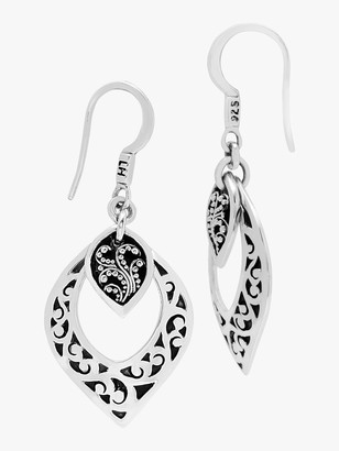 Lois Hill Hand Carved Scroll Drop Earrings