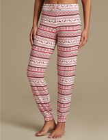 Marks and Spencer Fairisle Print Cuffed Hem Pyjama Bottoms