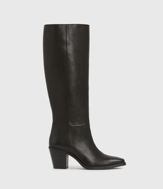 AllSaints Cohen Knee High Leather Boots