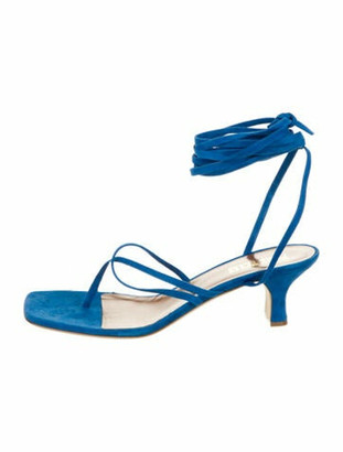 Paris Texas Suede Gladiator Sandals Blue