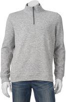 Croft & Barrow Men's Marl Quarter-Zip Sweater