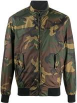 Polo Ralph Lauren high-neck camouflage-print bomber jacket