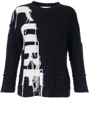 PortsPURE reverse intarsia weave jumper
