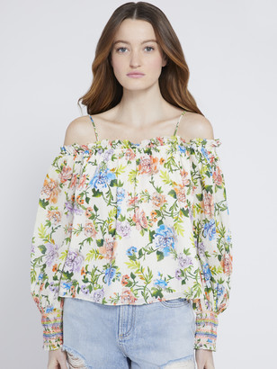 Alice + Olivia Tereza Floral Off Shoulder Blouse