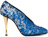 Lanvin sequin embellished stiletto pumps