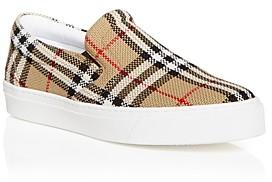 Burberry Men's Thompson Vintage Check Slip On Sneakers