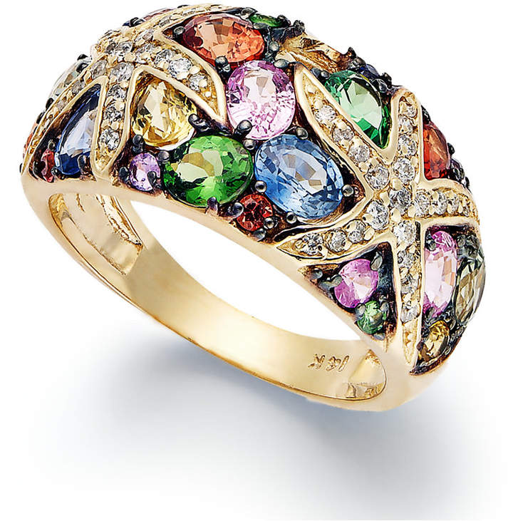 Effy Watercolors by Multistone and Diamond Starfish Ring (3-1/2 ct. t.w.) in 14k Gold