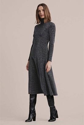 Witchery Lurex Fit Flare Dress