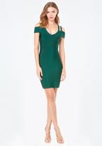 Bebe Half Sleeve Strappy Dress