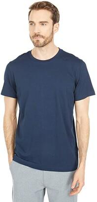 Selected Norman Short Sleeve O-Neck Tee Shirt (Medium Grey Melange) Men's Clothing