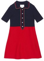 Gucci Girl's Colorblock Merino Wool Blend Dress