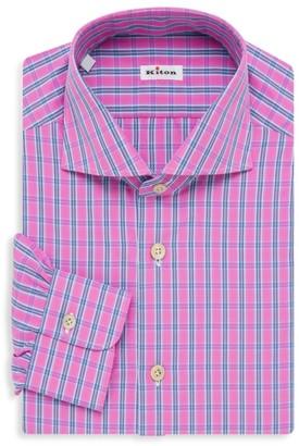 Kiton Bright Plaid Shirt