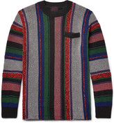 Sacai - Striped Jacquard-knit Cotton-blend Sweater