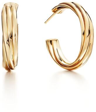 Tiffany & Co. Paloma's Melody hoop earrings in 18k gold, small