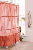 Urban Outfitters Rayna Tiered Ruffle Tie-Side Shower Curtain