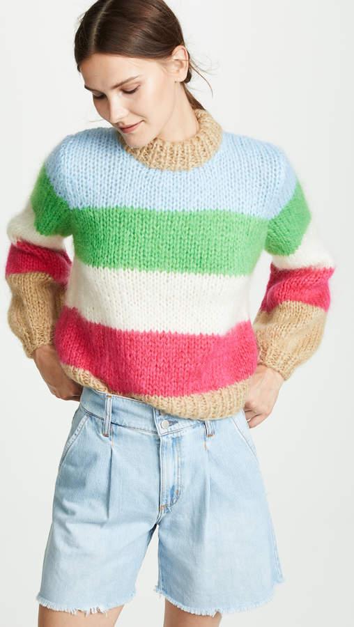 Ganni Juliad Striped Sweater