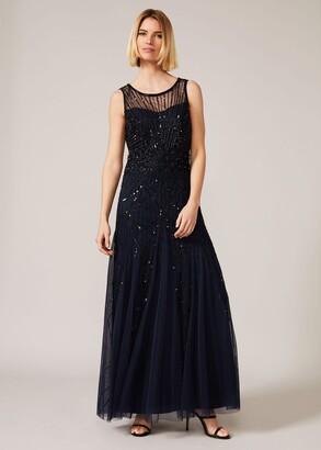 Phase Eight Greta Embellished Tulle Maxi Dress