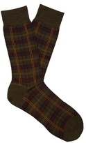 Pantherella Greenwich Tartan Wool-blend Socks