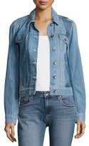 Paige Rowan Pieced Denim Jacket, Indigo