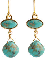 Barse BIJOUX BAR Art Smith by Turquoise Double-Drop Earrings