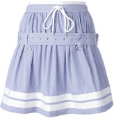 Diesel Black Gold striped belted skirt - women - Cotton - 40
