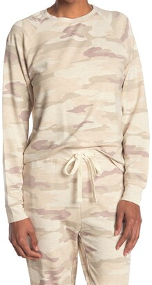 Thread and Supply Jacey Camo Print Raglan Pullover