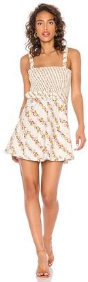 For Love & Lemons Georgia Smocked Mini Dress