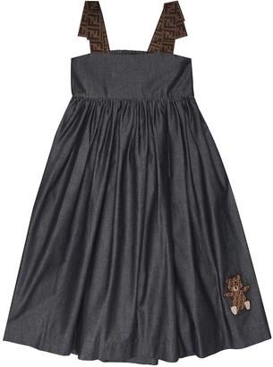 Fendi Cotton-chambray dress
