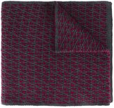 Fendi FF logo knit scarf - men - Wool - One Size