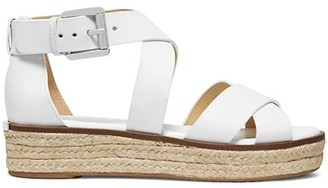 MICHAEL Michael Kors Darby Leather Platform Sandals